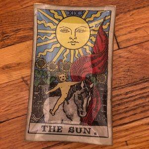 Tarot card sun horoscope trinket ring dish zodiac